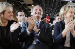 Valérie Debord, Gérard Longuet et Nadine Morano à Nancy, le 15 mars 2012.