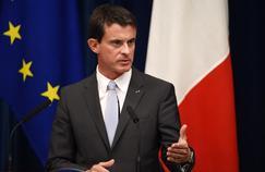 Manuel Valls en conférence de presse le 5 octobre au Japon, son plus récent voyage à l'étranger.