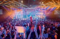 Cérémonie d'ouverture de League of Legends, en mai 2014 à Paris. L'e-sport devrait générer 500 millions de dollars de chiffre d'affaires en 2016.