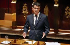 Manuel Valls devant l'Assemblée ce vendredi.