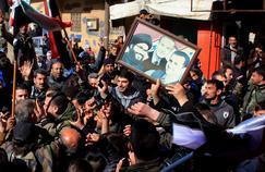 Manifestation de soutien à Bachar el-Assad à Nubol, le 4 février