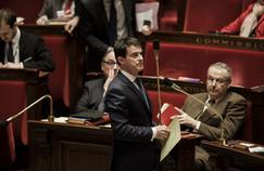 Manuel Valls s'exprime sur la déchéance de nationalité, vendredi, à l'Assemblée nationale.