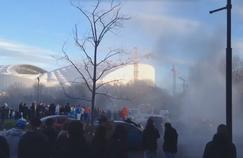 Les fans marseillais ont pris d'assaut le rond-point du Prado (Crédits: Twitter Alexandre Jacquin)