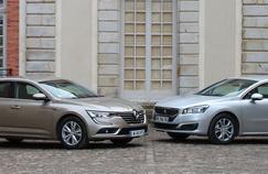 La Renault Talisman et la Peugeot représentent actuellement le haut de gamme français.