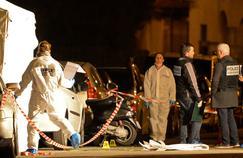 La police scientifique à Marseille, sur les lieux d'un nouveau règlement de compte, le 8 février.