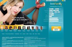 Capture d'écran de la page d'accueil du site Solofalily.