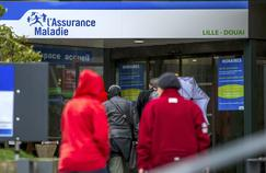 Les dépenses de santé (ici une caisse primaire d'assurance maladie, à Lille) augmentent structurellement avec le vieillissement de la population.