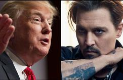 L'acteur Johnny Depp parodie Donald Trump à l'écran.