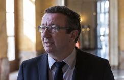Christian Paul, chef de fil des frondeurs, en 2015 dans les couloirs de l'Assemblée.