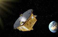Vue d'artiste du satellite Lisa Pathfinder lancé le 3 décembre 2015 par l'Agence spatiale européenne.