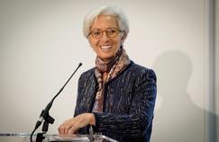 Christine Lagarde, le 12 novembre 2015, lors d'une conférence de presse du FMI à Londres.