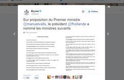 Capture d'écran du compte Twitter de l'Élysée.