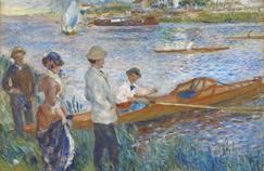 Pierre-Auguste Renoir peint ce tableau intitulé Rameurs à Chatou en 1879.