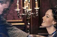 Luchino Visconti et Romy Schneider sur le tournage de Ludwig-Le Crépuscule des dieux en 1972.
