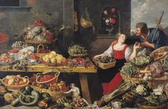 Marché de fruits et légumes par Frans Snyders (1579-1657).
