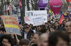 Manifestation contre la loi El Khomri, mardi 5 avril à Paris.