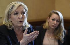 Marine Le Pen et Marion Maréchal-Le Pen, jeudi à Paris.