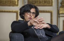 Myriam El Khomri, la ministre du Travail, dans son bureau début avril.