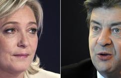 Marine Le Pen et Jean-Luc Mélanchon
