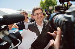 Jean-Luc Mélenchon à son arrivéeau 51e Congrèsde la CGT, lundi, à Marseille.
