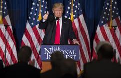 Donald Trump lors d'un discours, mercredi à Washington..