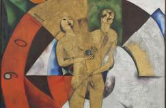 Hommage à Apollinaire, de Marc Chagall, 1913.