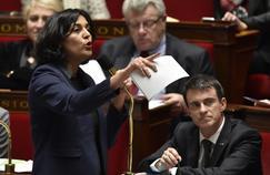 Myriam El Khomri, ministre du travail, et Manuel Valls, premier ministre