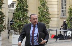 Pierre Gattaz, le président du Medef, au sortir d'une réunion à Matignon