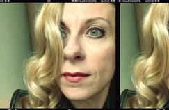 Selfie de Natalie Dessay réalisé au bar du Park Hyatt Vendôme (IIe).