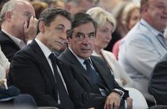 Nicolas Sarkozy, président des Républicains, et François Fillon