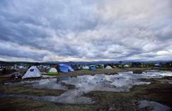 Campement de réfugiés près du village grec d'Idomeni, à la frontière de la Macédoine.