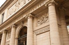 L'entrée de l'université René Descartes à Paris.