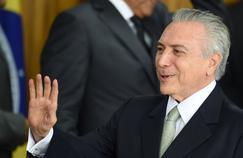 Michel Temer au palais présidentiel de Brasilia, le 12 mai.