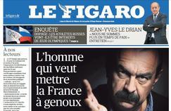La Une du Figaro du jeudi 26 mai 2016.