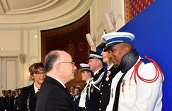 Kévin Philippy, 29 ans, a été décoré de la médaille d'or de la sécurité intérieure place Beauvau. (Crédit photo: Ministère de l'Intérieur)