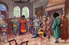 Rencontre à Chinon entre Jeanne d'Arc et le dauphin, futur Charles VII.