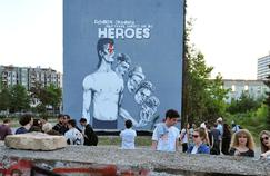 "Inauguration of a mural, ""the largest in the world"", in memory of the British rock legend David Bowie, May 28 in Sarajevo."