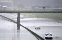 L'autoroute A10 sous les eaux, au niveau de Saran.