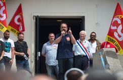 Philippe Martinez, secrétaire général de la CGT, en meeting ce samedi près de Martigues