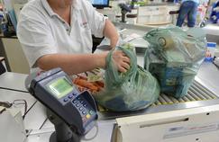 En remplacement des sacs de caisse en plastique, les consommateurs se verront proposer des sacs réutilisables ou en papier.
