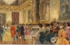 A prom scene at the Tuileries, around 1863.