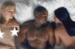 Chris Brown, Taylor Swiftn, Kanye West, Kim Kardashian ... All find themselves represented, lying next to each other in the Famous clip unveiled Friday, June 24 by Kanye West.