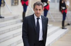 Nicolas Sarkozy à l'Elysée à l'invitation de François Hollande, le 25 juin 2016.