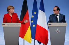 Angela Merkel, François Hollande (ici lors du Conseil des ministres franco-allemand organisé à Metz le 7 avril) et Matteo Renzi prépareront lundi à Berlin le sommet européen de crise de mardi.