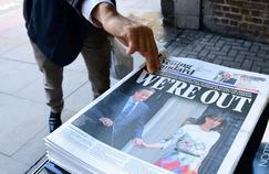 La une du London Evening Standard, vendredi 24 juin, jour de l'annonce des résultats en faveur du Brexit.