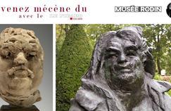 A droite: Cette sculpture en terre cuite est une esquisse que Rodin utilise en parallèle du modèle vivant pour réaliser son œuvre. A gauche: Suite à une série d'études de têtes de Balzac, Rodin opte pour une vision novatrice de la sculpture, il réalise un condensé des nombreux traits expressifs de l'écrivain. ©MUSÉE RODIN (PHOTO CHRISTIAN BARAJA)