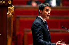Manuel Valls, mardi, à l'Assemblée Nationale.