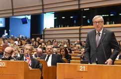 Jean-Claude Juncker au Parlement européen à Bruxelles, mardi.