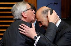 Jean-Claude Juncker et Pierre Moscovici, le 27 juin 2016