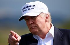 Donald Trump lors de la visite de son golf en Ecosse, vendredi.